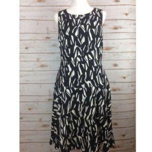 Kasper Dress Sleeveless Black & White Lined